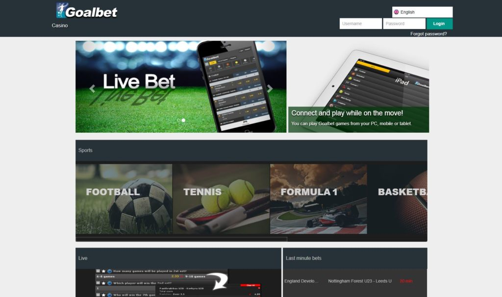 Goalbet bookmaker